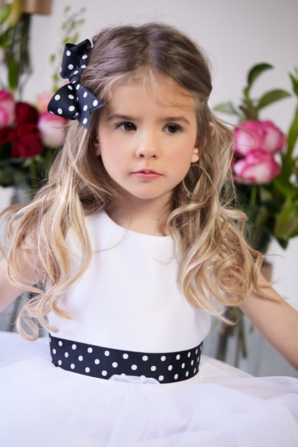 black and white flower girl dress – 1
