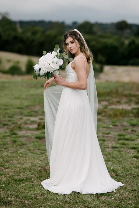 Long wedding veils wedding dress accessories