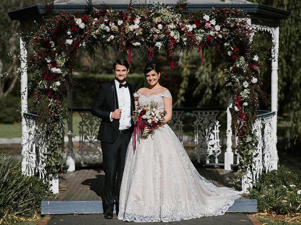 The Katherine coloured wedding dresses