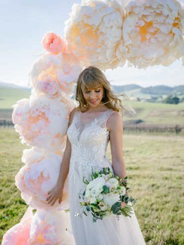 Erica lace back wedding dress Melbourne