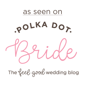 as seen on polkadot bride
