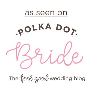 as seen on polkadot bride