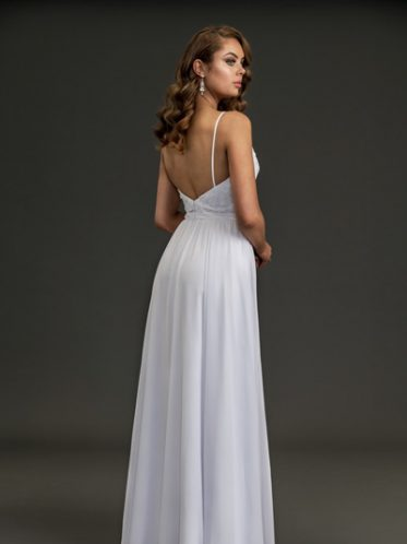 Back of summer wedding dress Flora