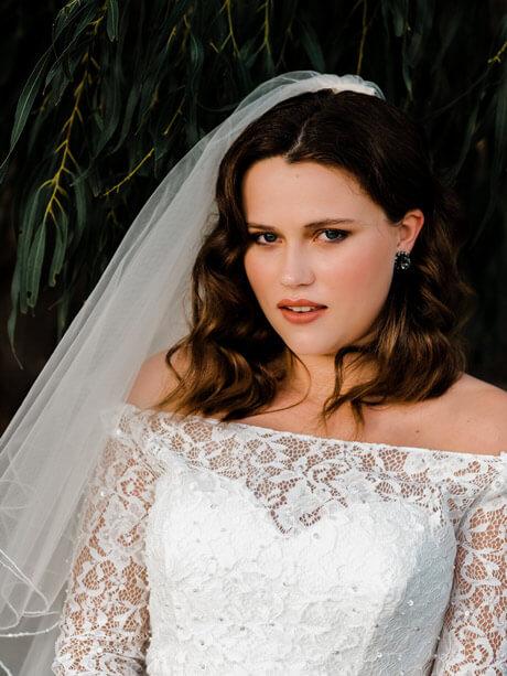 Long sleeve mermaid wedding dresses Julia