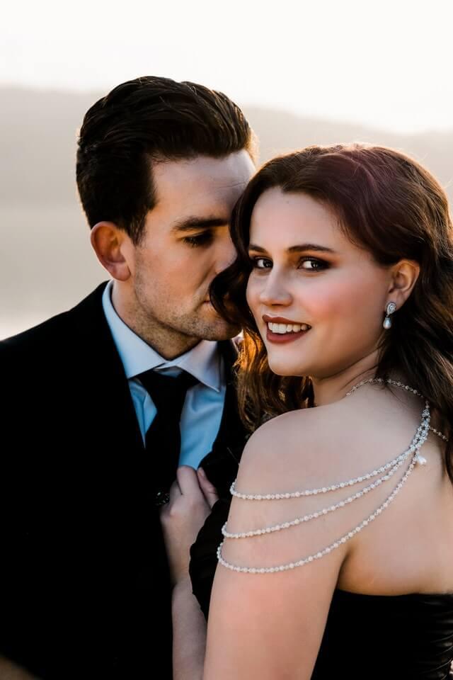 Silver unique wedding necklace