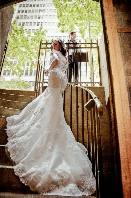 Lace bridal gown Bec