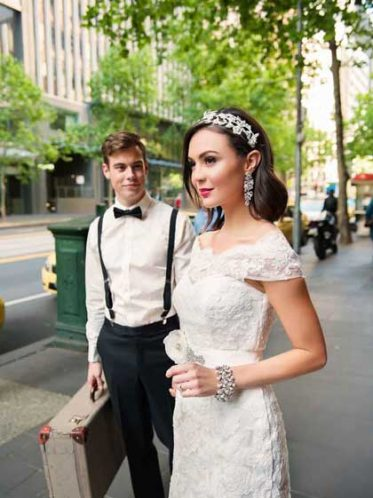 Bec sale lace bridal gown