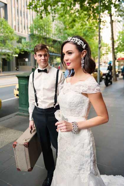 Bec sale lace bridal gown