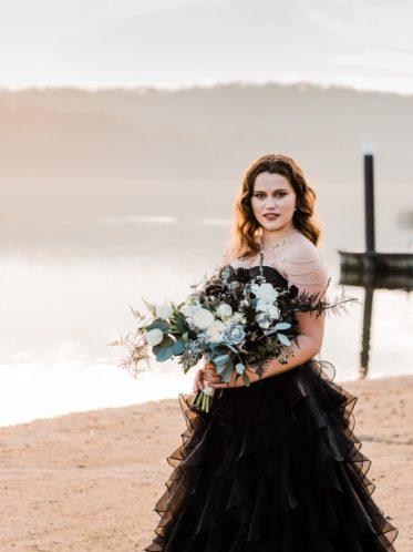 Black bridal dresses