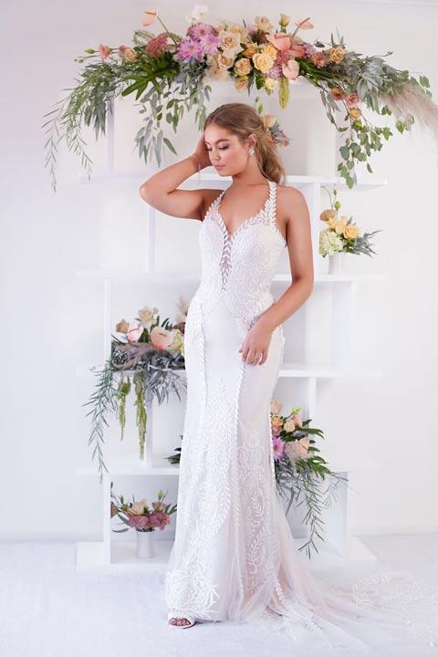 Eva off the rack wedding dresses blush