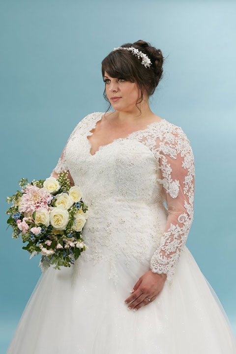 Lace sleeve-plus-size-wedding-dress