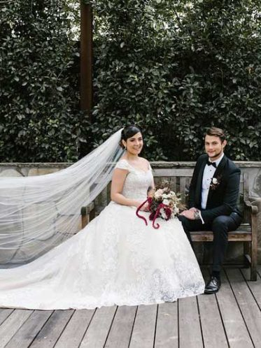 Katherine lace long-train wedding dress