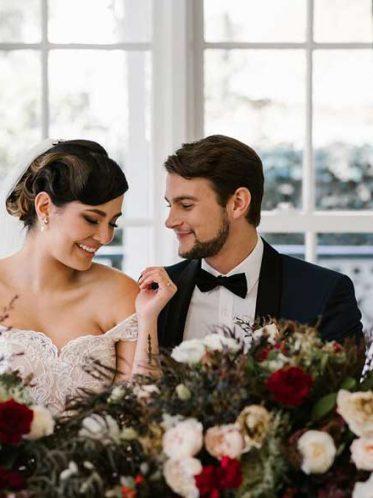 Katherine off the shoulder wedding dress
