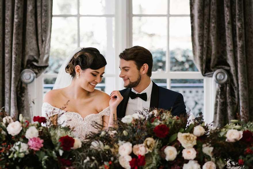 Katherine off the shoulder A-line wedding dress