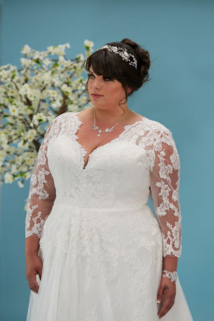 Daphne wedding gown with sleeves