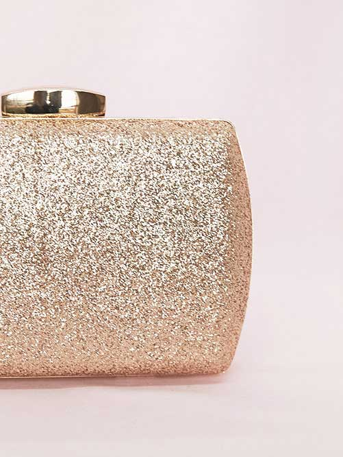 Gold evening bags