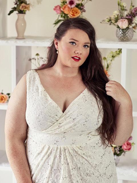 Plus size bohemian Melbourne wedding dresses