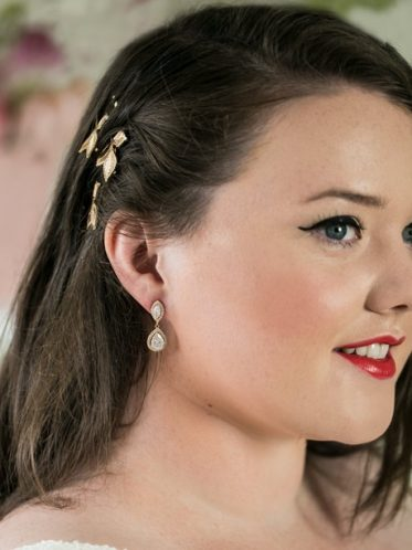 Sophia bridal earrings in gold