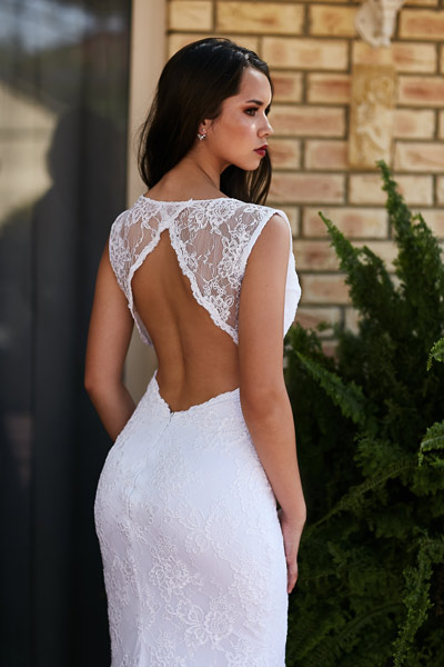 Backless deb dress Tamworth gown