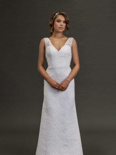 Long white lace dress Mermaid