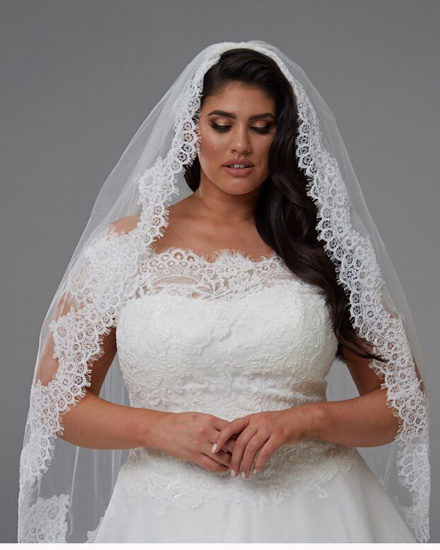 For extra arm coverage wear a veil