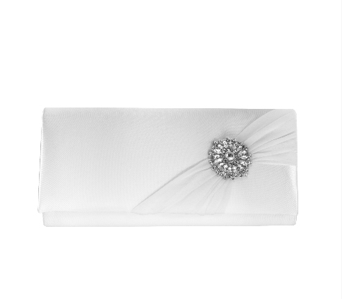 White bridal purse for brides