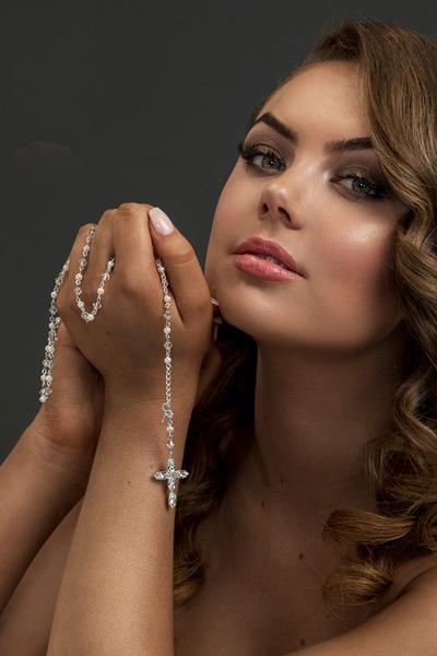 Deluxe Rosary Wedding Bracelet