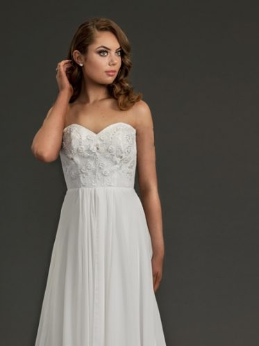 Simple wedding dress empire line