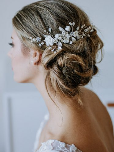 flower hair comb for brides.