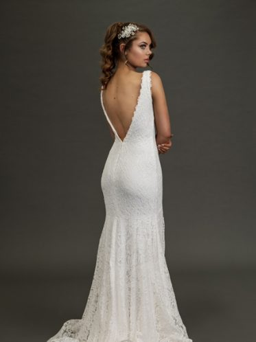 Eildon low-back wedding dress
