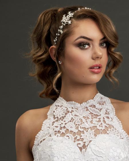Halter neck Wedding dress bridal headband