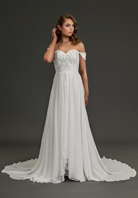 Poppy simple wedding dress