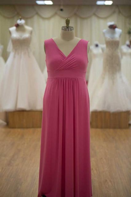 Pink plus size bridesmaids