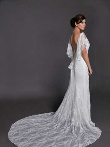 Melrose low back wedding dresses