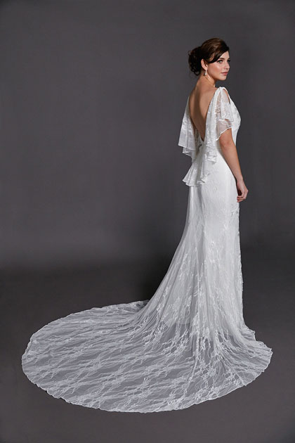 Melrose low back wedding gown