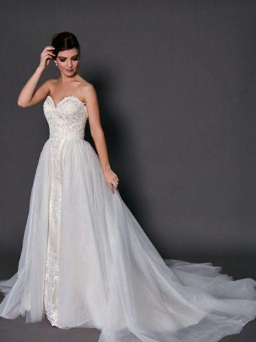 Detachable skirt wedding dress