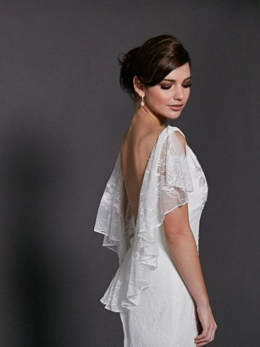 Low-back lace wedding dresses