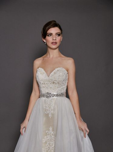 Dion Detachable skirt wedding dress