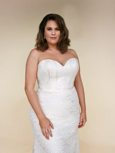 Fitted Harper plus size wedding dress