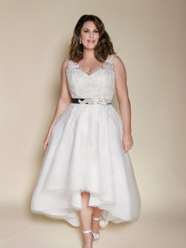 Plus size high low Melbourne wedding dresses
