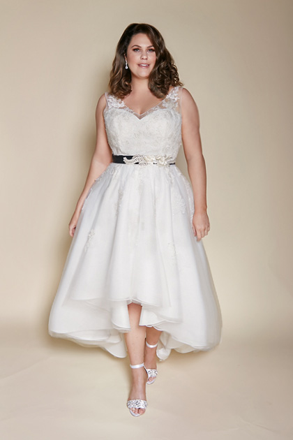 Plus size high low Melbourne wedding dresses