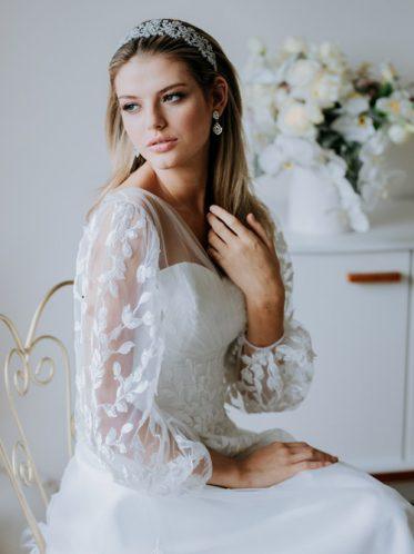 Long sleeve wedding dresses Indy