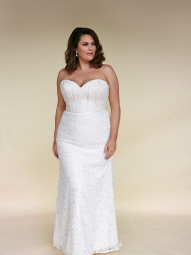 Fitted plus size wedding dress Harper