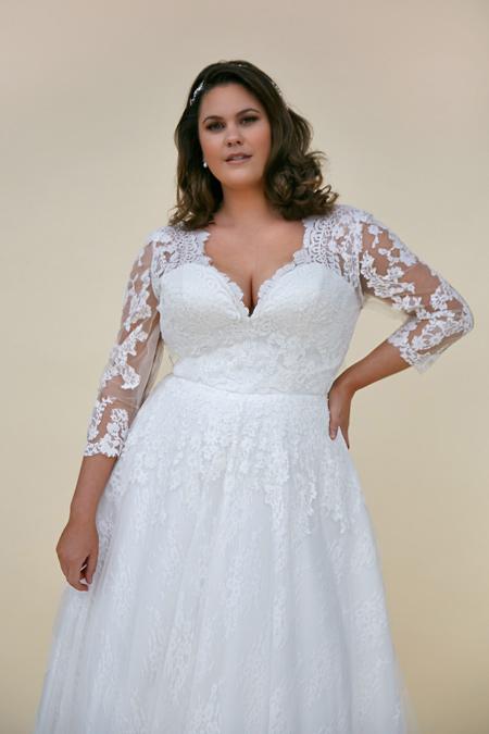 Daphne modest wedding dress style