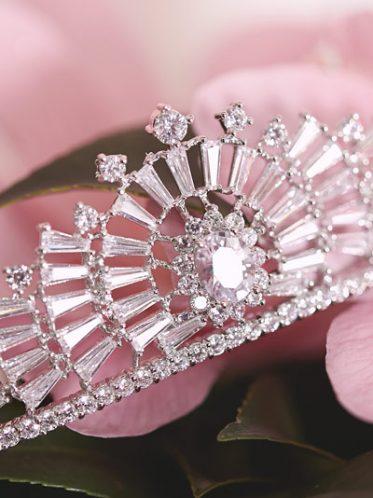 Vintage deco tiara headband
