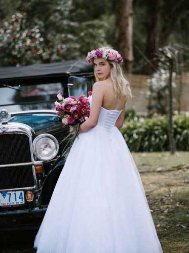 Corset back of dream wedding dress Maddi