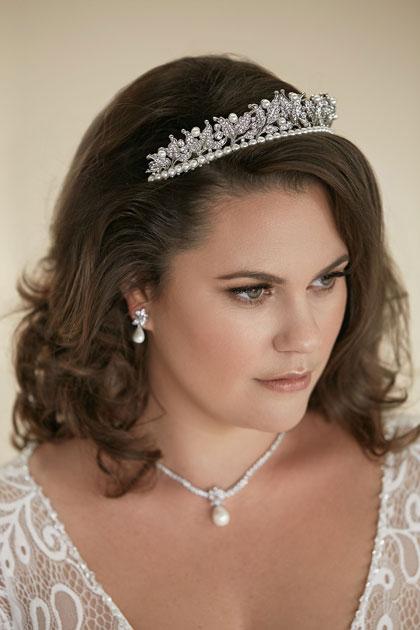 Pearl tiara for brides