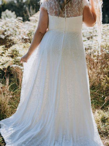 Soft lace wedding dress
