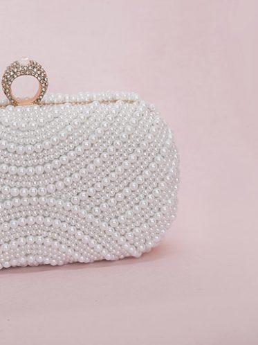 Beaded elegant wedding handbag
