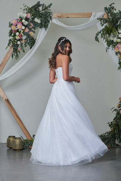 Nova white debutante dress